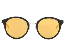 Verspiegelte Sonnenbrille mit rundem Rahmen