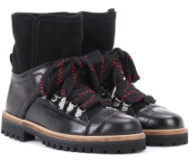 Ankle Boots Edna aus Leder mit Pelzbesatz