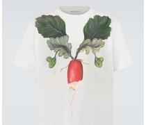 Oversize T-Shirt Veggie aus Baumwolle
