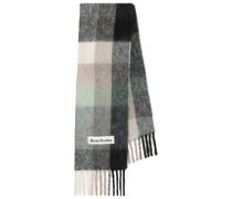 Karierter Schal mit Alpakaanteil