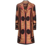 Jacquard-Mantel aus einem Wollgemisch