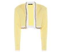 Cropped-Jacke aus Strick