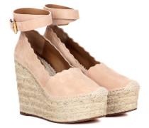Wedge-Sandalen Lauren aus Veloursleder