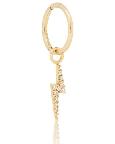 Einzelne Creole aus 18kt Gelbgold und Diamanten