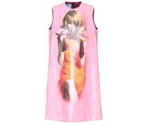 Bedrucktes Kleid aus Kunstleder