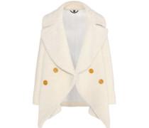 Mantel aus Lammfell mit Strick