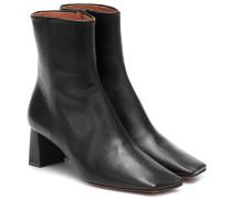 Ankle Boots Boomerang aus Leder
