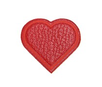 Herzsticker aus Leder