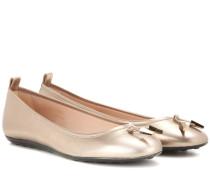 Ballerinas Laccetto aus Metallic-Leder
