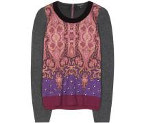 Bedruckter Pullover aus einem Wollgemisch