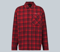 Kariertes Oversize-Hemd aus Flanell