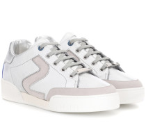 Sneakers aus Lederimitat