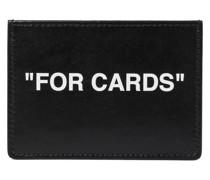 Kartenetui Quote aus Leder