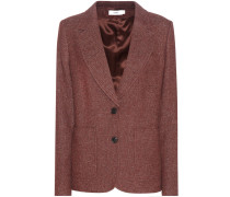 Tweed-Blazer aus einem Woll-Leinengemisch