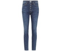 High-Rise Slim Ankle Jeans Olivia