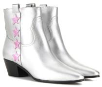 Ankle Boots Rock 40 aus Metallic-Leder
