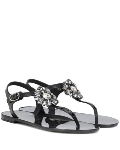 Billig Verkauf Versand Niedriger Preis Gebühr Dolce & Gabbana Damen Verzierte Sandalen mit Leder Verkauf Websites Billig Verkauf Großhandelspreis 7QZTxTU62