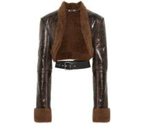 Wendbare Jacke aus Leder und Shearling