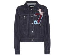 Jeansjacke mit Verzierung
