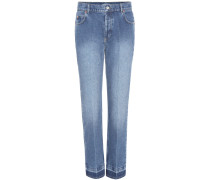 High-Rise Cropped Jeans Genuine