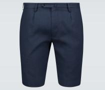 Slim-Fit Shorts aus Leinen