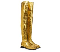 Overknee-Stiefel aus Leder