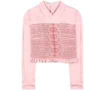 Cropped-Bluse aus Baumwolle