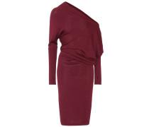 Schulterfreies Kleid aus Cashmere und Seide