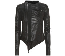 Bikerjacke Low Neck aus Leder