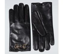 Horsebit-Handschuhe aus Leder