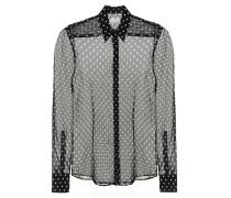 Gepunktete Bluse aus Seide
