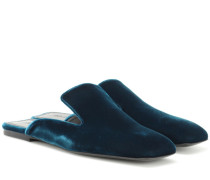Exclusive to mytheresa.com – Velvet slippers