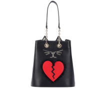 Bucket-Bag Broken Heart Feline aus Leder