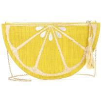 Clutch Limon aus geflochtenem Stroh