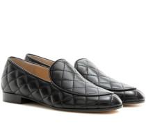 Loafers Marcel Driver aus gestepptem Leder