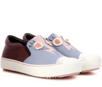 Verzierte Slip-on-Sneakers aus Leder
