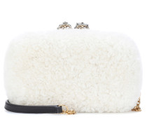 Box Clutch Queen & King mit Lammfell