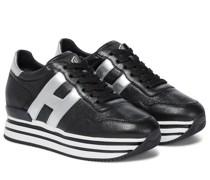 Sneakers Midi Platform aus Leder