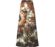 Culottes aus Baumwolle mit Batikprint