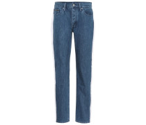 High-Rise Taped Jeans