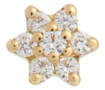 Einzelner Ohrring Diamond Star aus 18kt Gelbgold und Diamanten