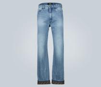 Regular-Fit Jeans mit Logo-Detail