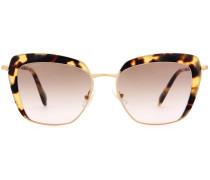 Cat-Eye-Sonnebrille mit Acetatrahmen