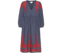 Kleid aus Baumwolle und Leinen mit Stickerei