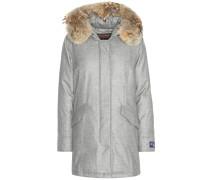 Parka Arctic aus Schurwolle und Cashmere mit Pelz
