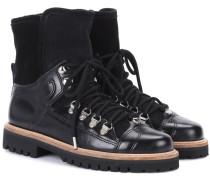 Ankle Boots Edna aus Leder und Veloursleder