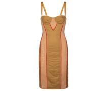 Kleid aus Mesh und Gabardine