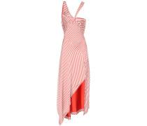 Gestreiftes Asymmetrisches Kleid aus Rayon