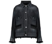 Jeansjacke mit Tweed