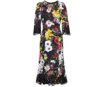 Kleid aus einem Seidengemisch mit Spitze